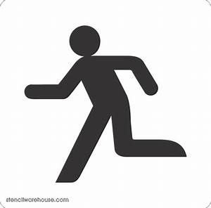 Running man symbol stencil available to buy online
