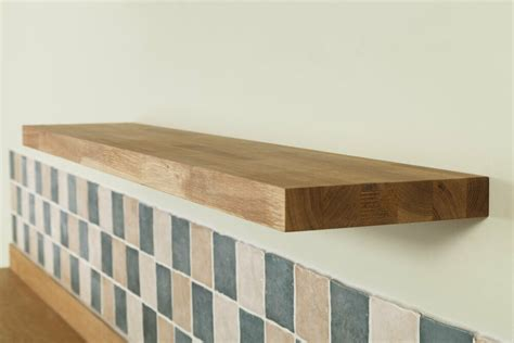 solid oak wooden floating shelves top quality natural