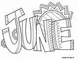 June Doodles Classroom sketch template