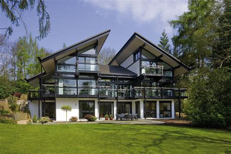 Post Modern House Plans by Sustainable Post And Beam Prefab Chic Modern Home By Huf