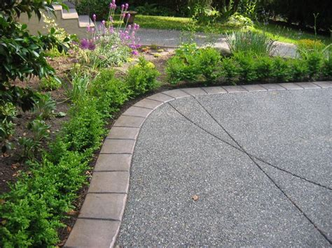 exposed aggregate concrete driveway walkway ideas