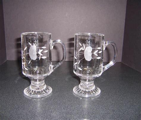 Triple A Resale 2 Princess House Glass Irish Coffee Mugs