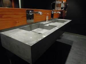 Evier salle de bain ca betonne for Evier meuble salle de bain