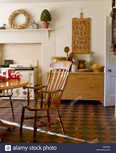 Antique Windsor Chair In Country Kitchen With Original