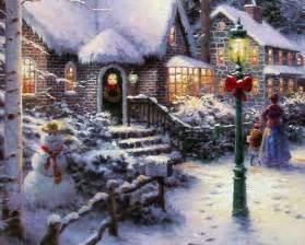Thomas Kinkade Christmas Scenes