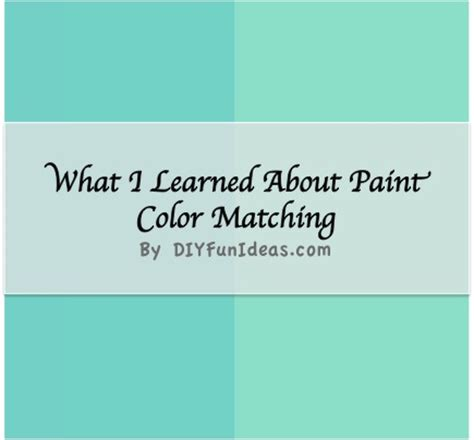 what i learned about paint color matching do it yourself