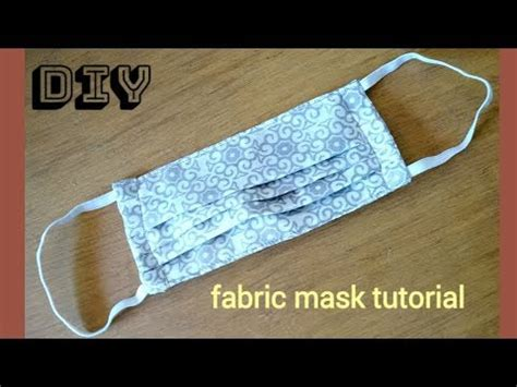 diyquick easy mask tutorial  reusable maskdust mask