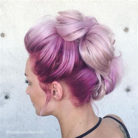 styles  cotton candy hair    sweet