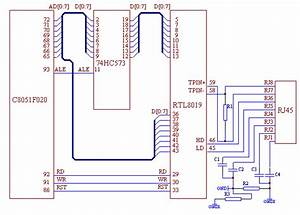 The Ethernet Interface Hardware Circuit Schematic Diagram