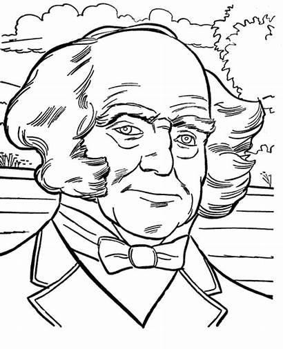 Coloring Buren Martin Pages Van President Presidents