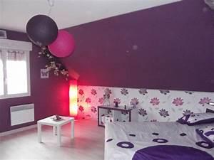 best chambre gris et rose fushia ado gallery seiunkelus With chambre blanc et fushia