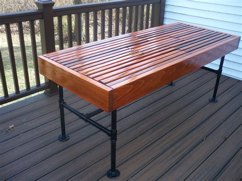 Cedar Outdoor Table With Built-in Wine & Beer Cooler With