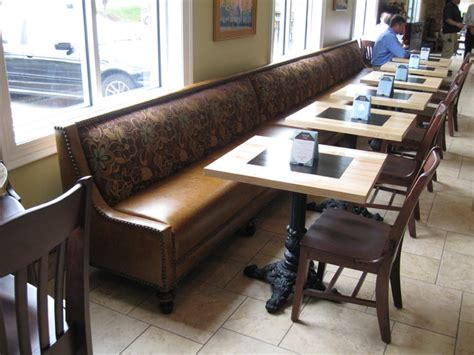 Custom Leather Banquette