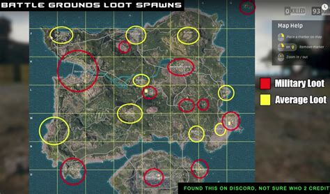 pubg loot map loot average loot spawns pubattlegrounds