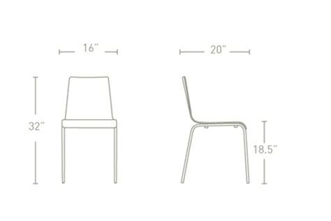 dining chairs dimensions standard