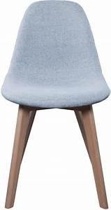 Pied Bois Scandinave : chaise scandinave en tissu gris et pieds en bois ~ Teatrodelosmanantiales.com Idées de Décoration