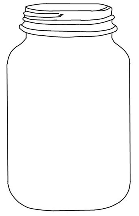 jar template jar printable use to create fingerprint lightning bug for preschool theme
