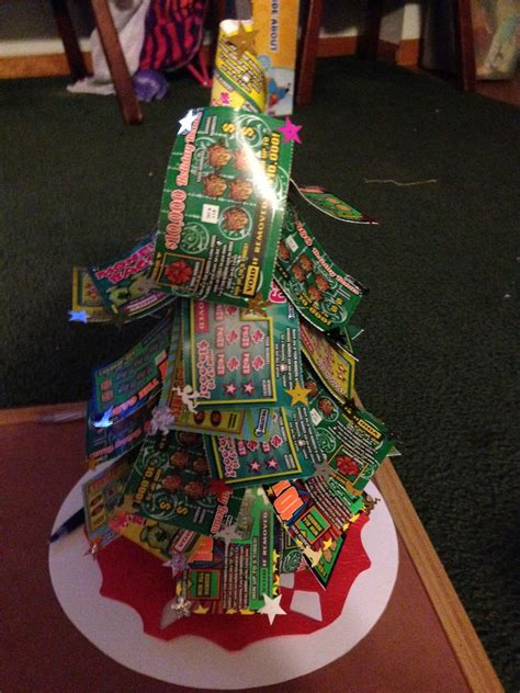 check   updated lottery ticket christmas tree