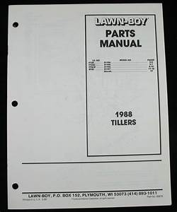 Lawn Boy 1988 Tillers Parts Catalog 51194 51195 51196