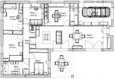 plan de maison 5 chambres plan de maison 3 chambres salon