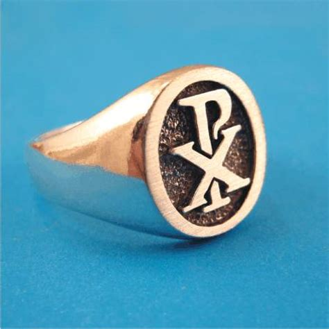 chi rho christian warriors ring solid sterling silver