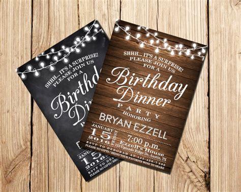 birthday dinner party invitation