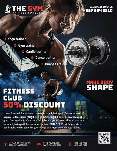 Gym Fitness Flyer Psd Freebie Template Project
