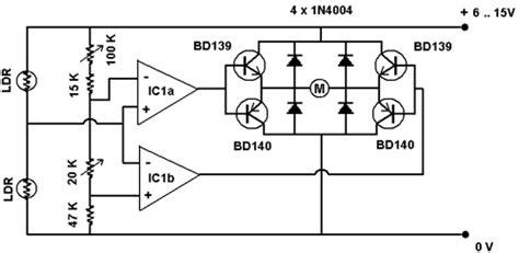 Схема устройства слежения за солнцем solar tracker .