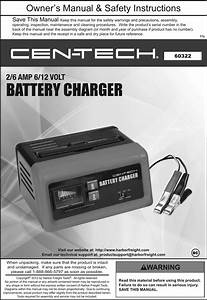 Manual For The 60322 2  6 Amp  6  12 Volt Battery Charger