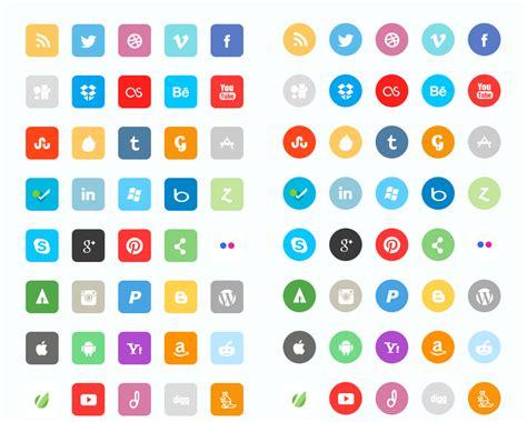 16 Koleksi Icon Sets Flat Sosial Media Untuk Website Anda