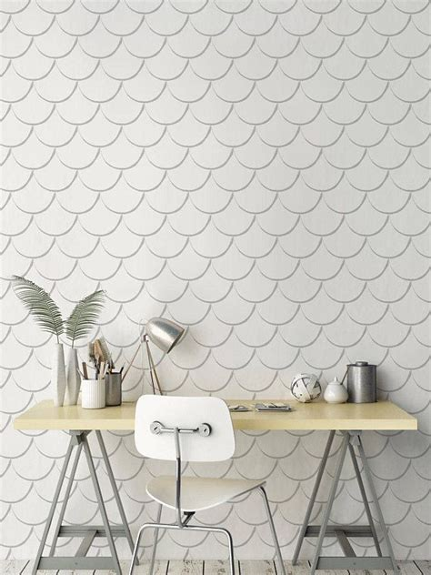Awesome Tile Stickers Removable Vinyl Wallpaper Designs Solution For Renters by Removable Scallop Wallpaper Self Adhesive Scallop Pattern
