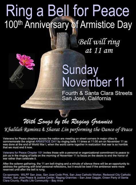 anniversary  armistice day ring  bell
