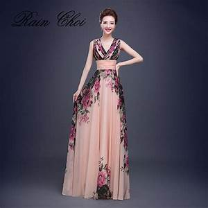 floral print cheap short bridesmaid dresses formal gowns With long floral dress for wedding