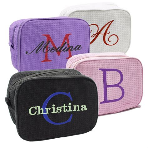 monogrammed travel   bag personalized bridesmaid cosmetic case makeup ebay