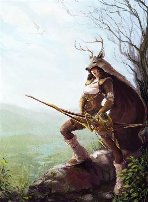 tikumi female archer concept knights  iam concepts