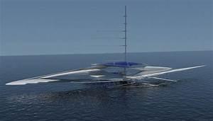 The Fresnel Hydrofoil Trimaran Is A Futuristic Sailboat