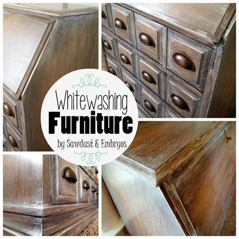 how to whitewash furniture whitewashing glazing tutorial sawdust and embryos