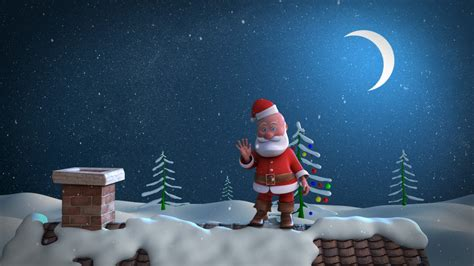 animated christmas card template santa stuck in chimney youtube