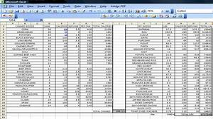 stock record keeping excel sheet
