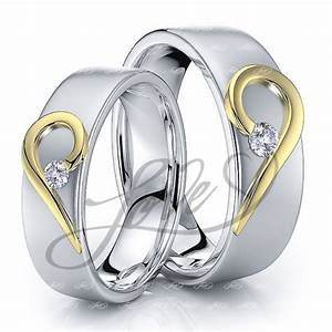 Solid 014 Carat 6mm Matching Heart His And Hers Diamond