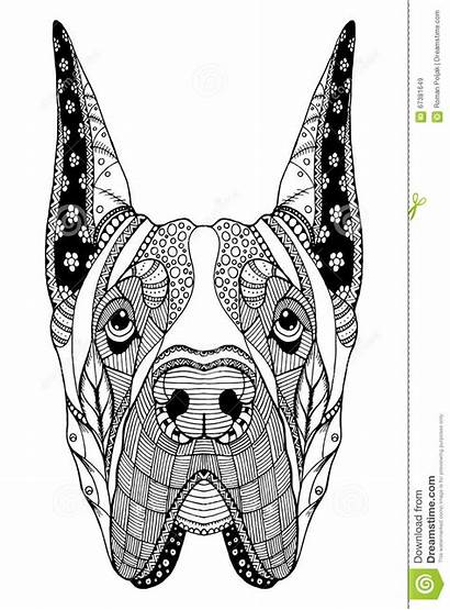 Dane Zentangle Hond Arte Zen Stilizzato Cane