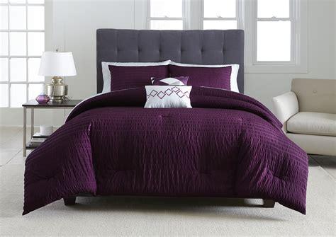 metaphor  piece comforter set plum seersucker