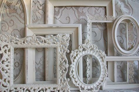 photo frame shabby chic white picture frame set shabby chic large heirloom by gardenofchic