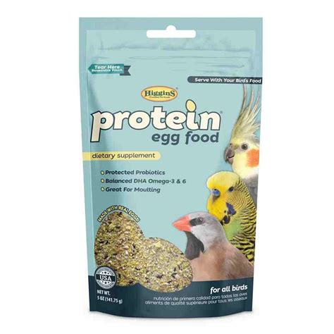 higgins protein egg food dietary supplement for pet birds