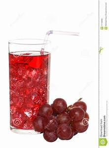 Grape Juice With Ice And Fruit Stock Photo - Image of ...