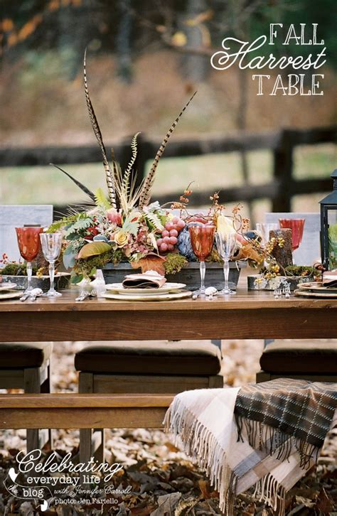 fall harvest table decorations welcome celebrating everyday life 187 decor adventures