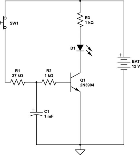 capacitor transistor delay electrical engineering stack exchange