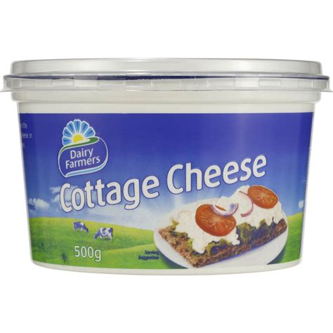 non dairy cottage cheese dairy farmers cottage cheese 500g woolworths