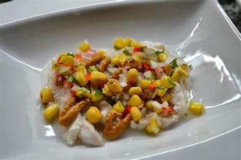 ceviche grouper saltshaker menu puree lime garlic corn fresh cashews dried guajillo cured juices tomato ginger pepper lemon salt sun