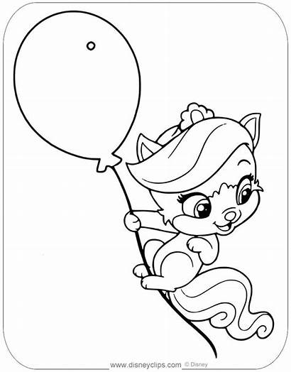 Coloring Pages Disneyclips Treasure Pets Palace Disney